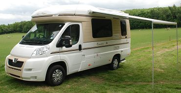 Motorhome With Carefree Freedom Awning Installed And Extended